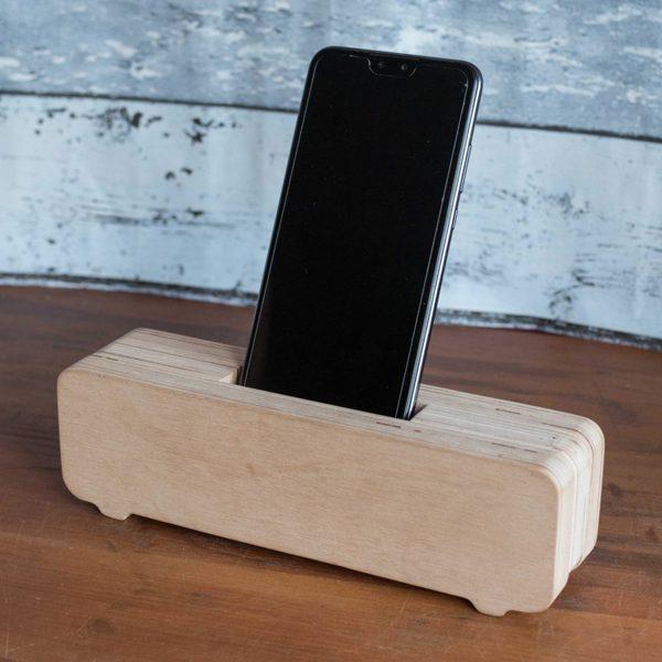 Amplificador pasivo madera CNC para celulares